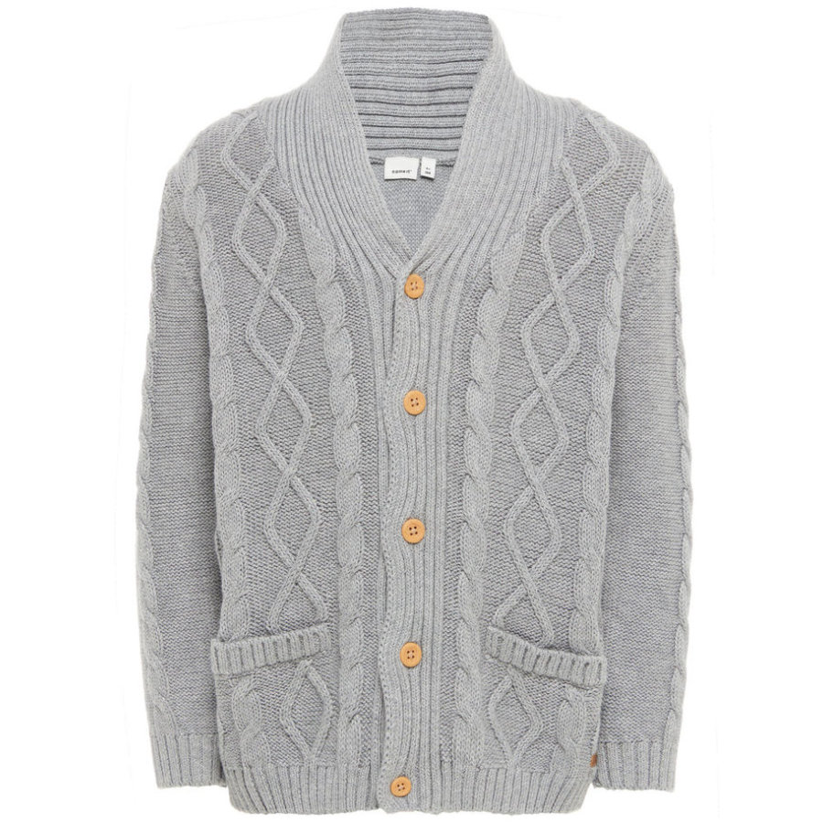 name it Boys Cardigan Finkal grey melange