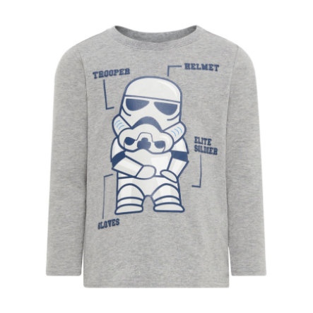name it Boys Langarmshirt Starwars grey melange