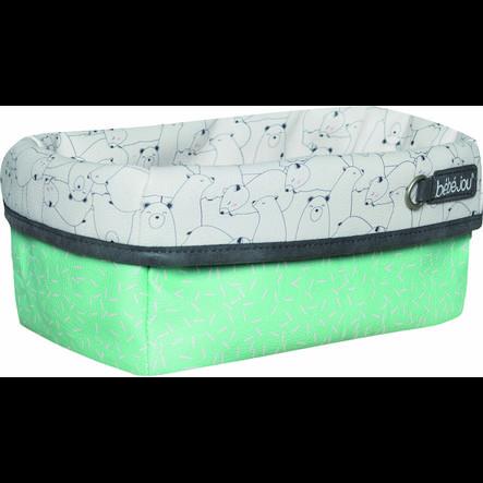bébé-jou® Verzorgingsmandje Design: Bo & Bing in mint