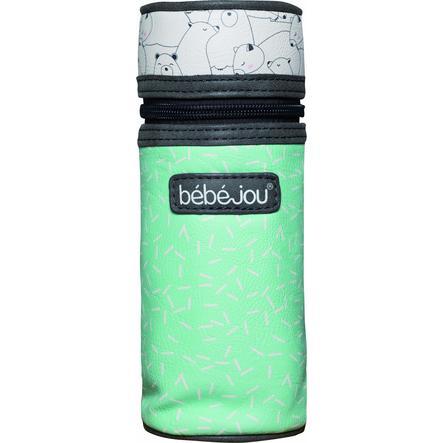 bébé-jou® Bolsa para biberón Diseño: Bo y Oso polar en verde claro