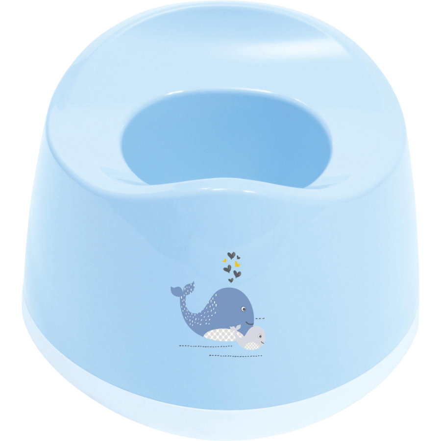 bébé-jou® potje Design: Wally Whale in blauw