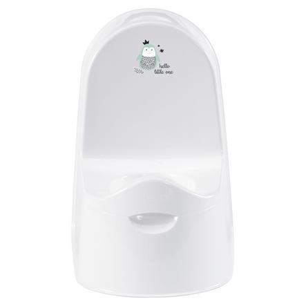 bébé-jou® nočník Luxe Design: Hello Little One v bílé