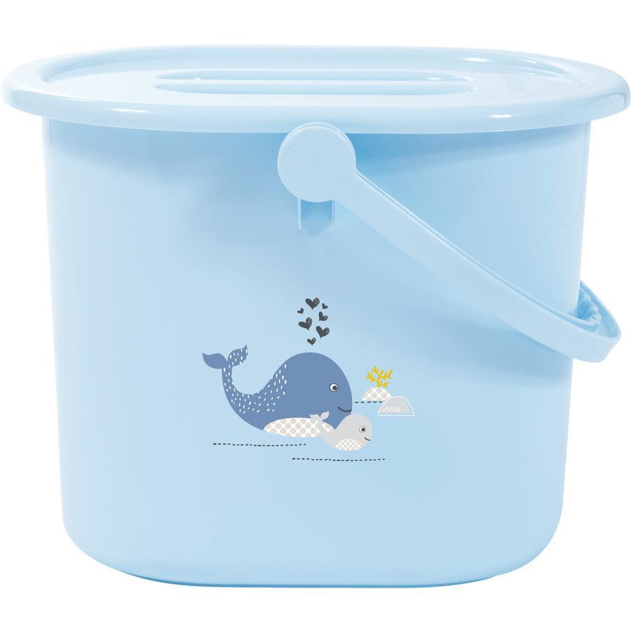 bébé-jou® Papelera para pañales Diseño: Wally Whale en azul