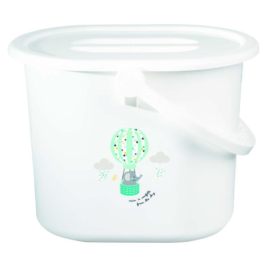 bébé-jou® Papelera para pañales Diseño: Confetti Party en blanco