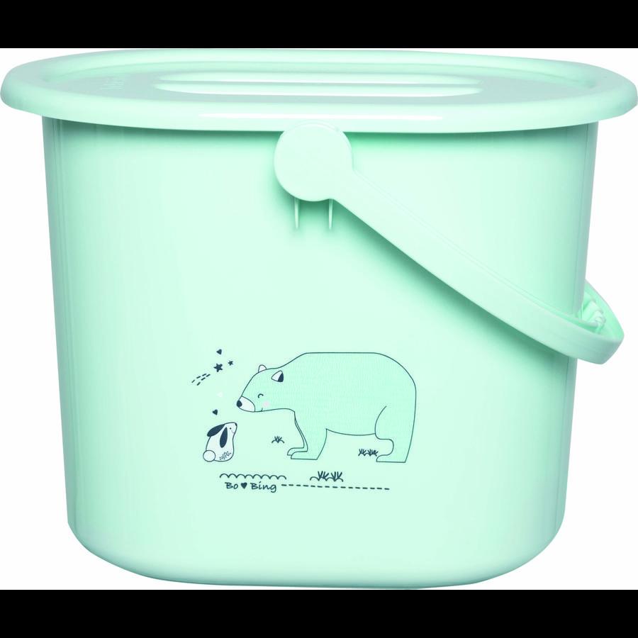 bébé-jou® Papelera para pañales Diseño: Bo y Oso polar en verde claro