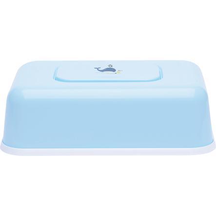bébé-jou® Burk till våtservetter Design: Wally Whale blå