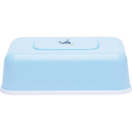 bébé-jou® Feuchttücherbox Wally Whale blau