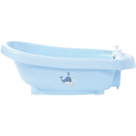 bébé-jou® Thermobad Click Wally Whale in blauw