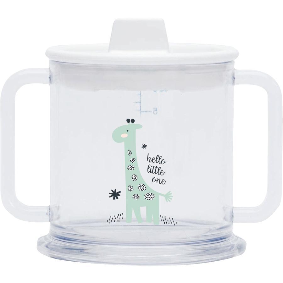 bébé-jou® Hrneček objem 200 ml Design: Hello Little One v bílé