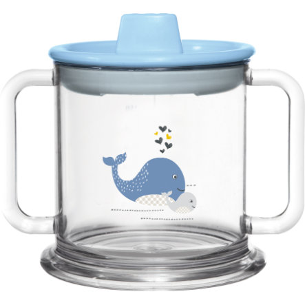 bébé-jou® Trinkbecher Wally Whale blau 200 ml