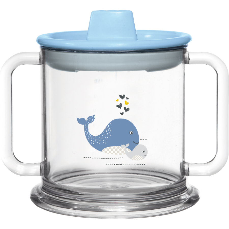 bébé-jou® Drinkbeker Inhoud 200 ml Design: Wally Whale in blauw