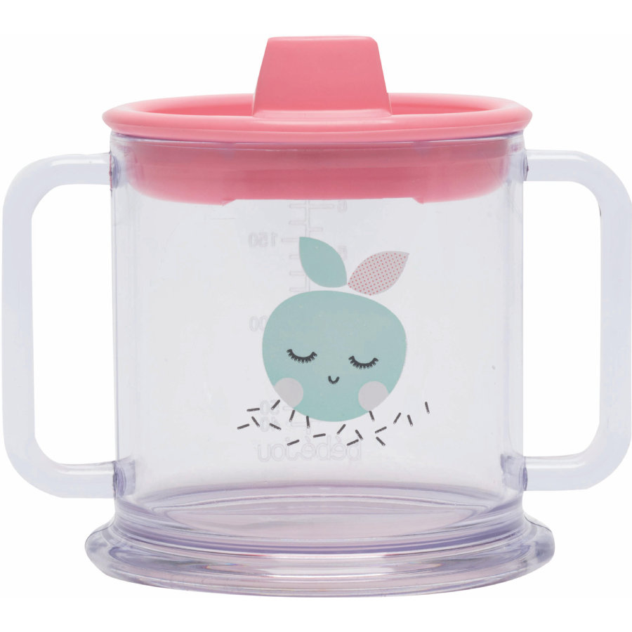 bébé-jou® Drikkebæger volumen 200 ml Design: Blush Baby i Flamingo Pink
