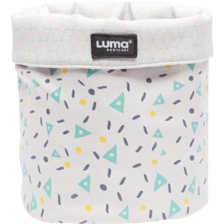Luma® Babycare Cesta de tela Design: Shapes Mint small