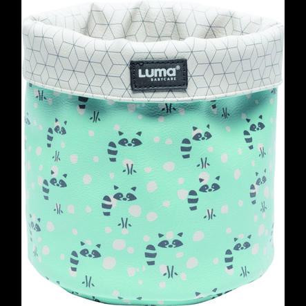 Luma® Babycare Odkládací košík, vzor: Racoon Mint small