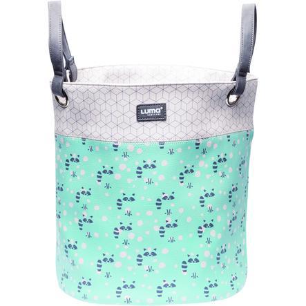Luma® Babycare koš na hračky, vzor: Racoon Mint middle