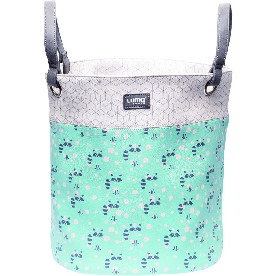 Luma® Babycare leketøyskurv mint med vaskebjørn medium