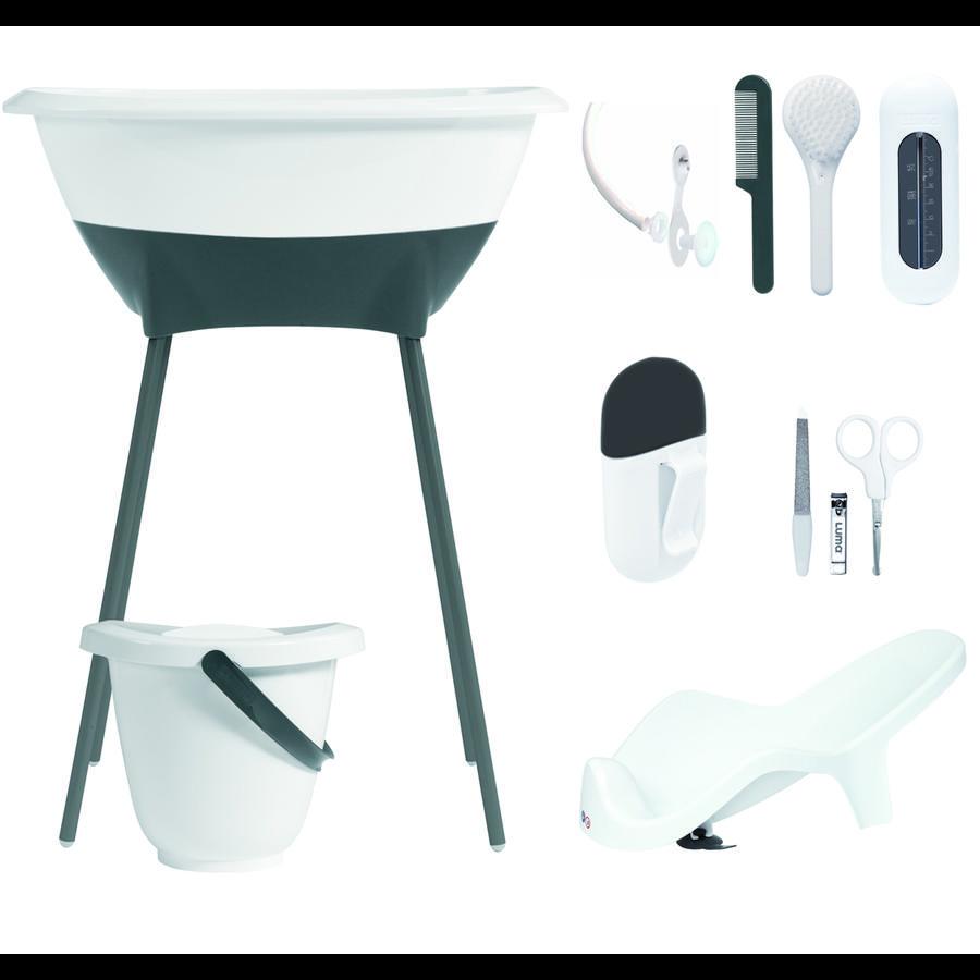 Luma® Babycare Kit bain baignoire sur pieds bébé, blanc