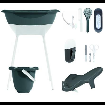 Luma® Babycare Kit bain baignoire sur pieds bébé, gris foncé