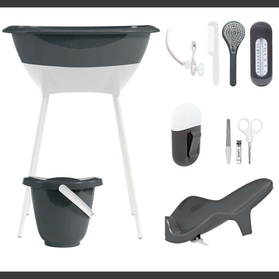 Luma® Babycare Bade- og pleiesett mørk grå