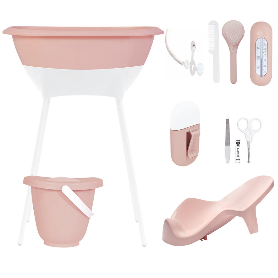 Luma® Babycare Bañera y set de cuidados Cloud Pink