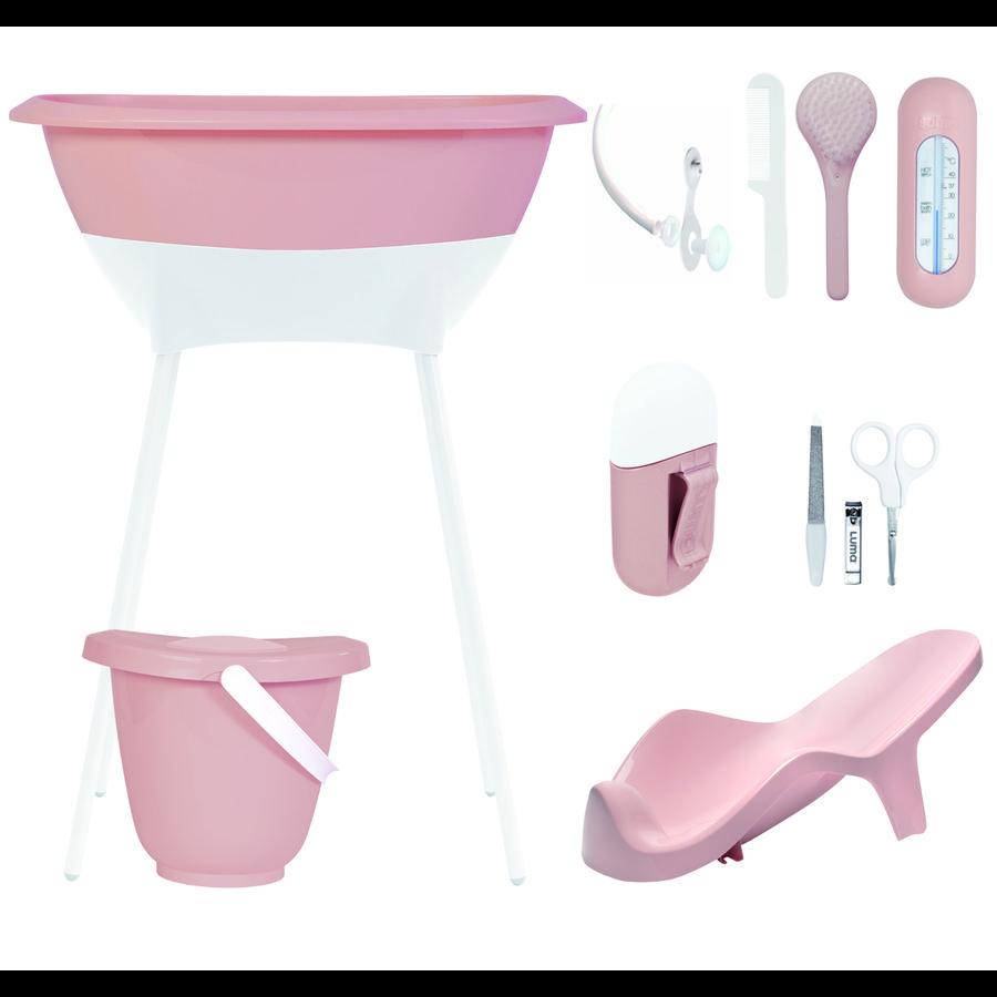Luma® Babycare Kit bain baignoire sur pieds bébé, rose