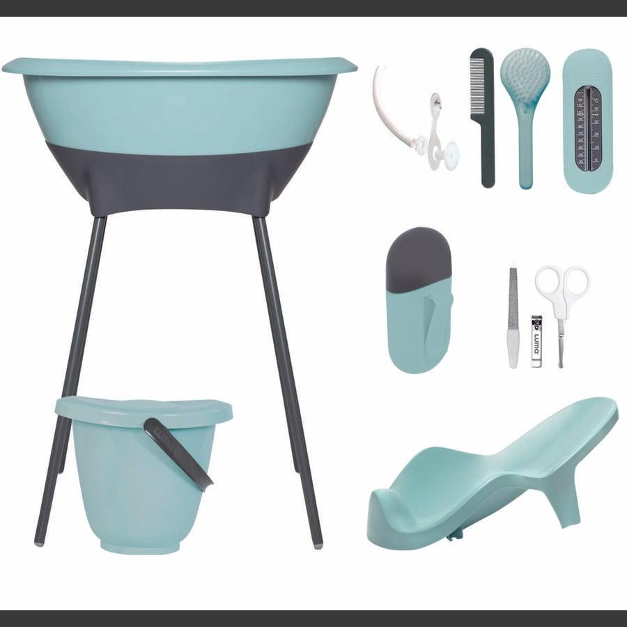 Luma® Babycare Kit bain baignoire sur pieds bébé, vert menthe