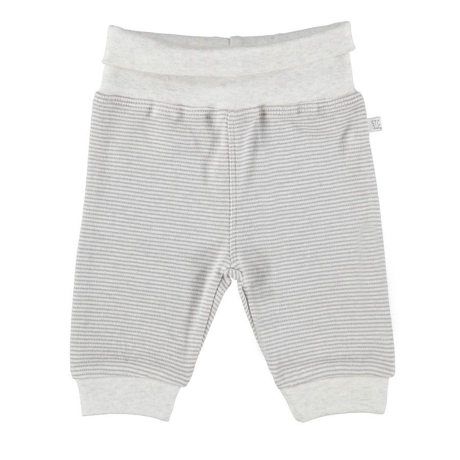 STACCATO Pantalon de survêtement à rayures mélange nature
