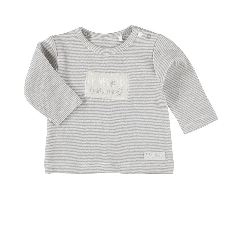 STACCATO Shirt mit Streifen grau