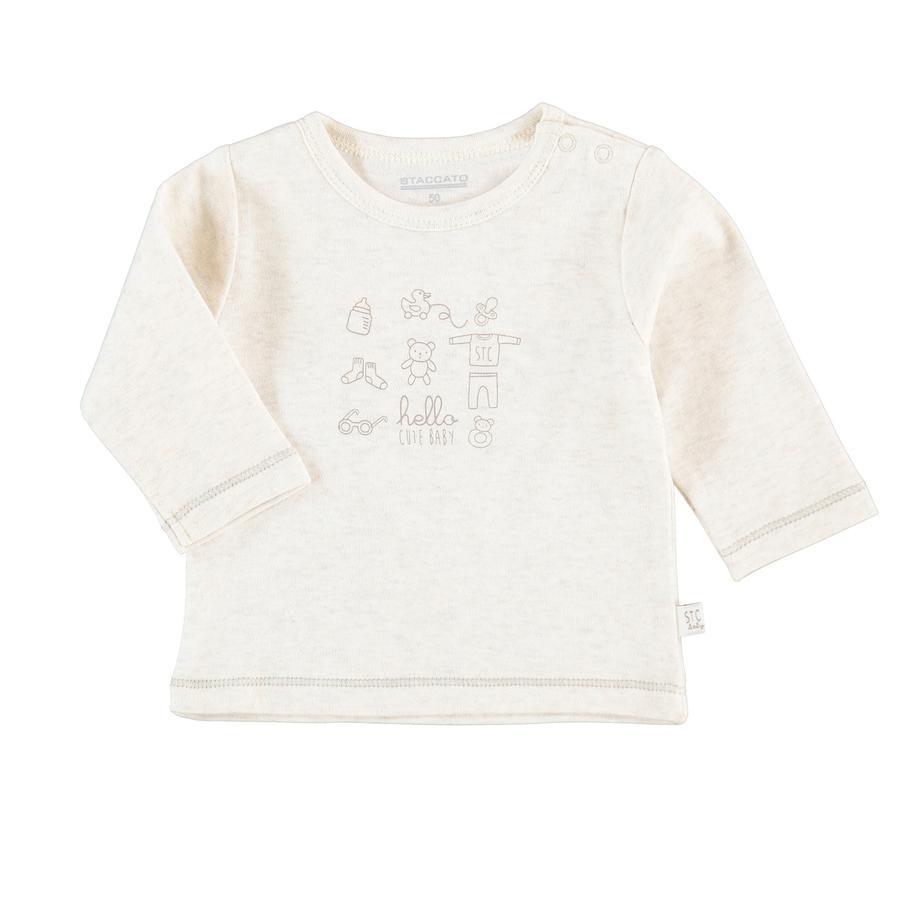 STACCATO Shirt met lange mouwen natuur melange