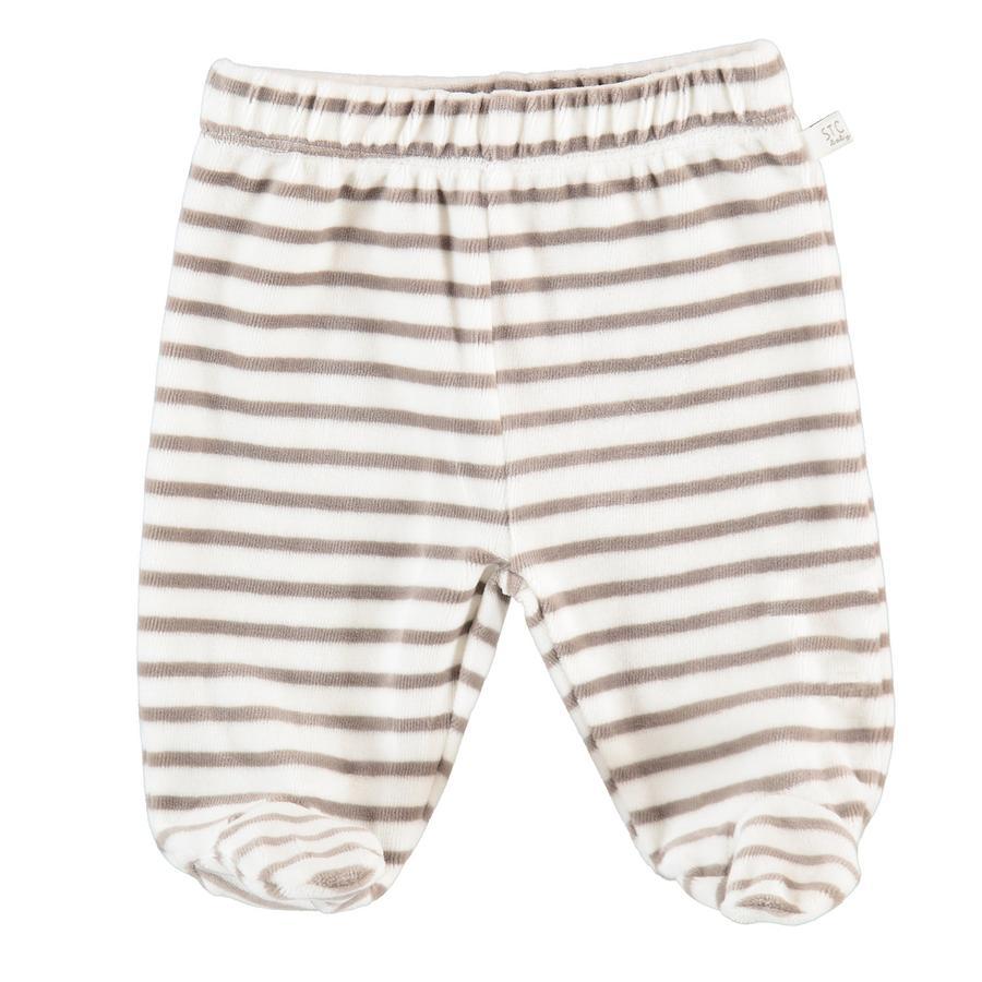STACCATO Pantalon Nicki à rayures blanc cassé