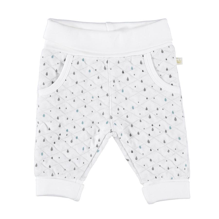 STACCATO Spodnie białe z nadrukiem kropelkowym