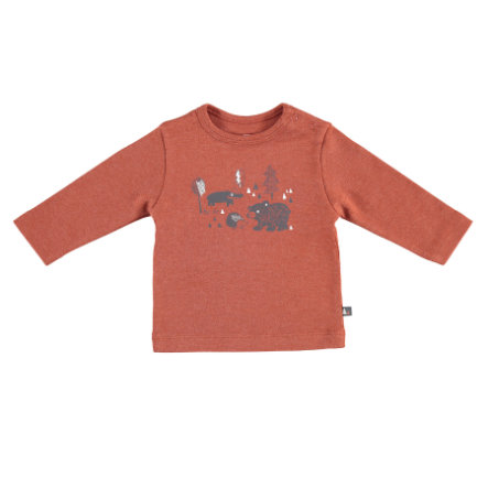 STACCATO Langærmet shirt rust melange