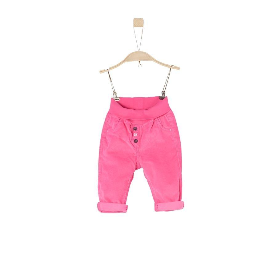 s.Oliver Girl s Pantalon en velours côtelé rose