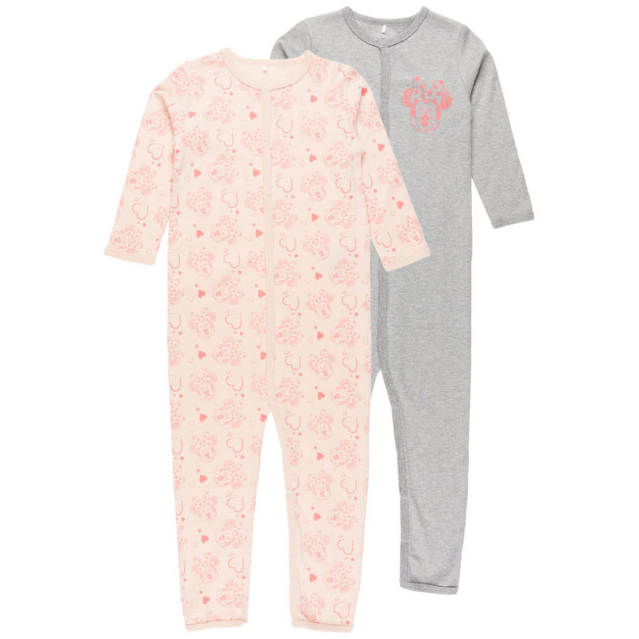 name it Girls Schlafoverall 2er-Pack Minnie peachy keen