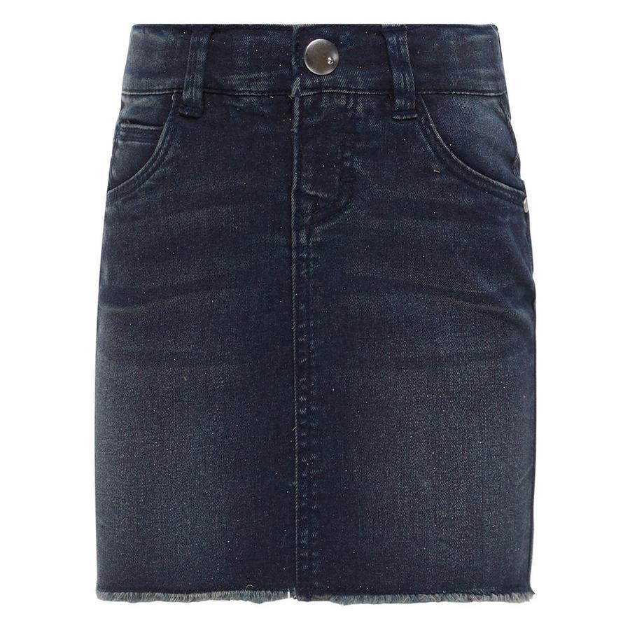 name it Girl s Denim skirt medium blue denim