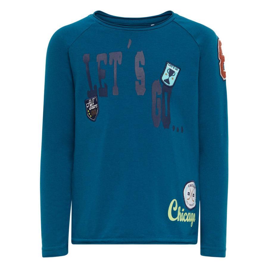 name it Boys Shirt met lange mouwen Dipow lynxen blauw