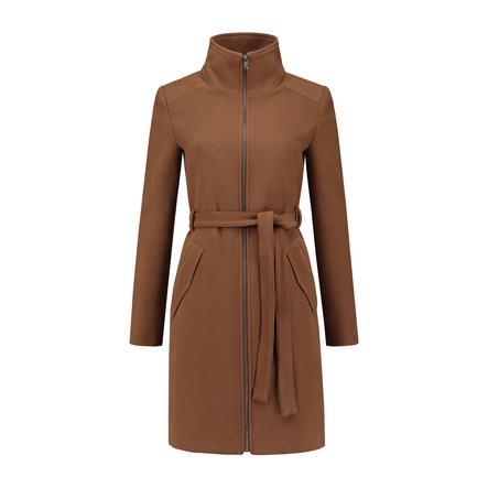 LOVE2WAIT těhotenský kabát Double Zipper Camel