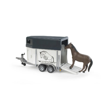 BRUDER® Horse Trailer with 1 Horse 02028
