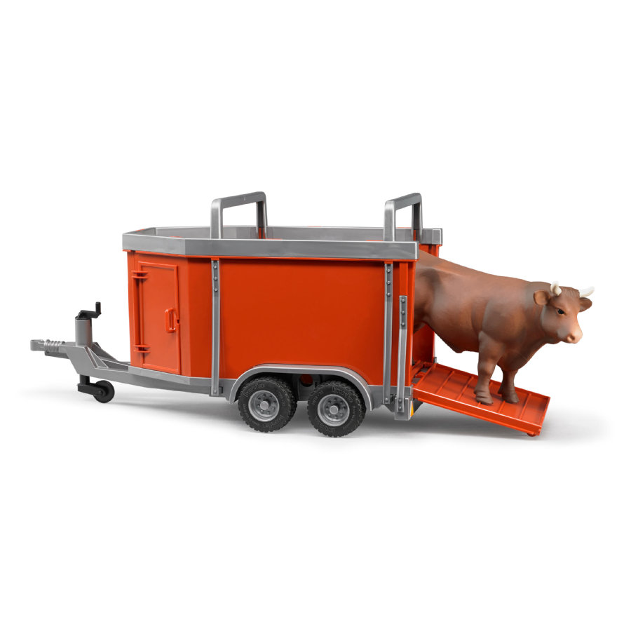 BRUDER® Cattle Trailer including 1 Cow 02029