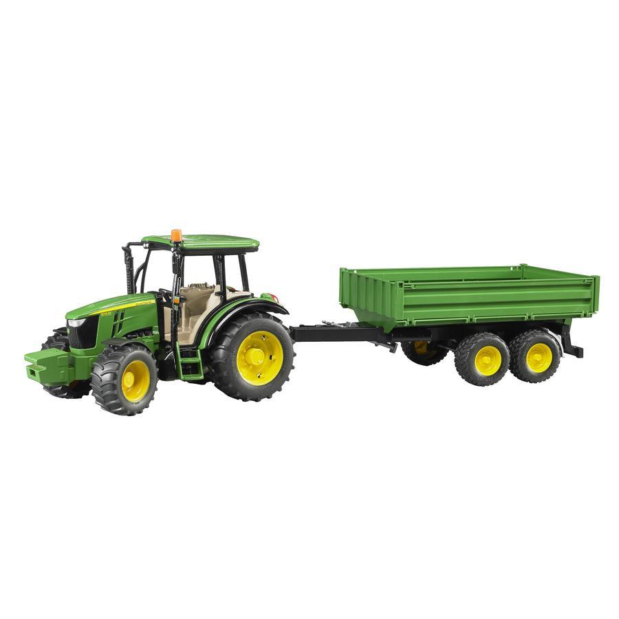 BRUDER® Traktor John Deere 5115M s valníkem 02108