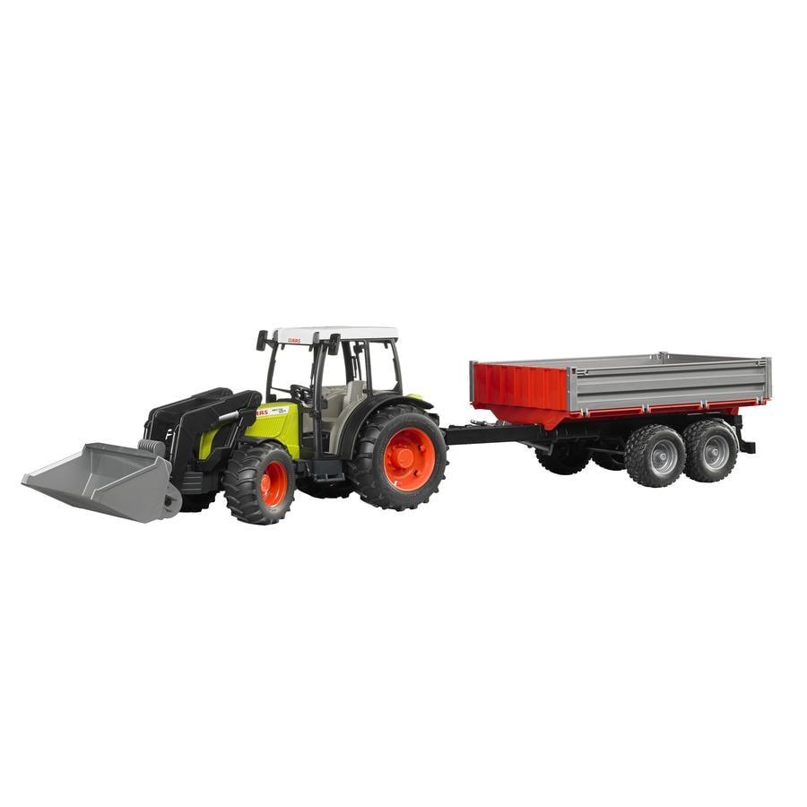 BRUDER® Tracteur Claas Nectis 267 F avec chargeur frontal et remorque à ridelles 02112