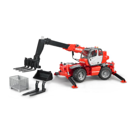 BRUDER® Manitou Telehandler MRT 2150 with Accessories 02129
