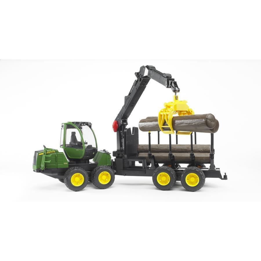 BRUDER® Camion trasporta tronchi John Deere 1210E con 4 tronchi 02133