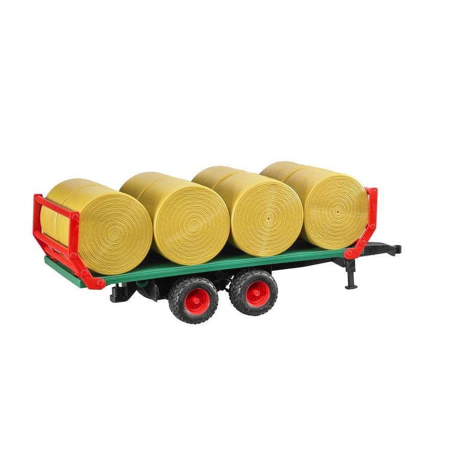 bruder® Remolque de transporte de balas de paja con 8 balas redondas 02220