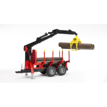 BRUDER® Forestry Trailer with Loading Crane and Grab 02252