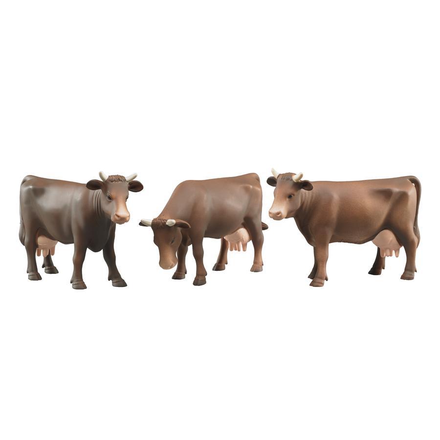 bruder® Vaca marrón (Posición de cabeza variada, surtido) 02308