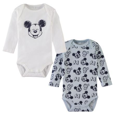 name it Body enfant Mickey baby blue coton lot de 2