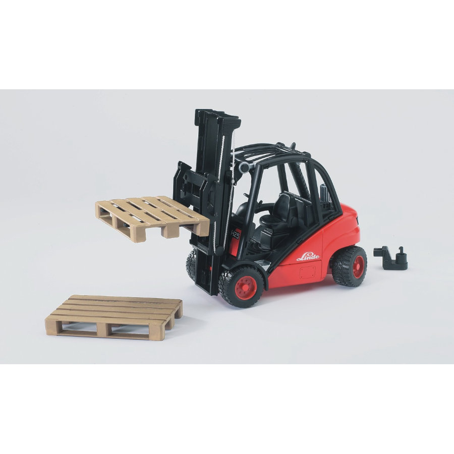 bruder® Linde Gabelstapler H30D mit Anhängerkupplung 02511