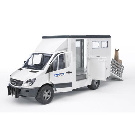 BRUDER® Mercedes Benz Sprinter přeprava zvířat s koněm 02533