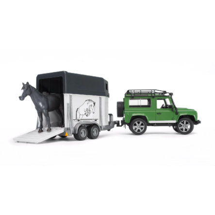 BRUDER® Land Rover med hästtransport   02592